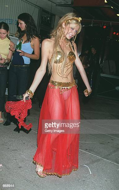 Model Paris Hilton attends a party at Guy's nightclub October 31 2000 in Los Angeles CA