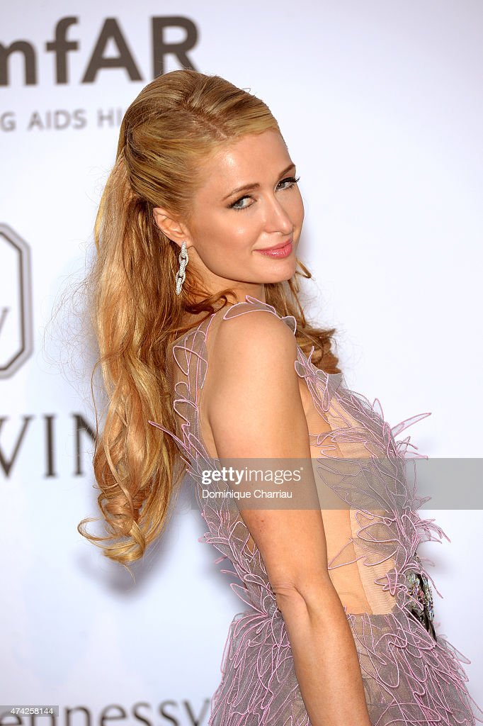 Model Paris Hilton attends amfAR's 22nd Cinema Against AIDS Gala Presented By Bold Films And Harry Winston at Hotel du CapEdenRoc on May 21 2015 in...