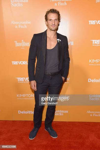 Model Parker Hurley attends the TrevorLIVE New York 2017 Fundraiser at the Marriott Marquis Times Square on June 19 2017 in New York City