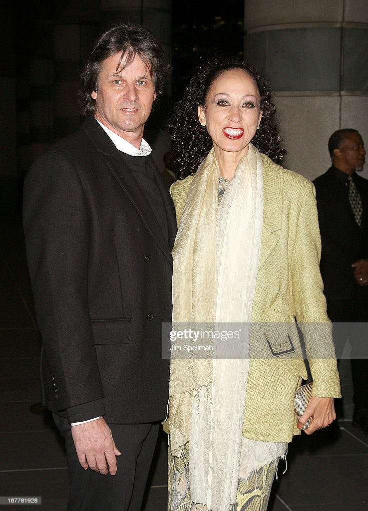 Model <a gi-track='captionPersonalityLinkClicked' href=/galleries/search?phrase=Pat+Cleveland+-+Model&family=editorial&specificpeople=592076 ng-click='$event.stopPropagation()'>Pat Cleveland</a> and guest attend the Cinema Society with Swarovski & Grey Goose premiere of eOne Entertainment's 'Scatter My Ashes At Bergdorf's' at Florence Gould Hall on April 29, 2013 in New York City.
