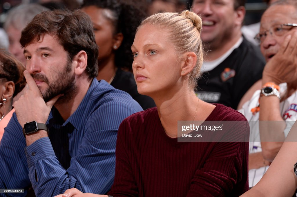 Model, Patricia Van Der Vliet attends the WNBA game between the Minnesota Lynx and the New York Liberty on August 20, 2017 at the Madison Square Garden in New York City, New York.