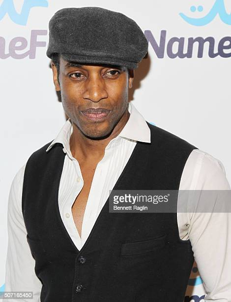 Model Patrick Hazlewood attends the NameFacecom launch party at No 8 on January 27 2016 in New York City