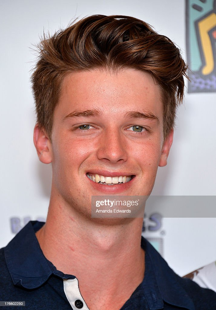 Model <a gi-track='captionPersonalityLinkClicked' href=/galleries/search?phrase=Patrick+Schwarzenegger&family=editorial&specificpeople=540253 ng-click='$event.stopPropagation()'>Patrick Schwarzenegger</a> attends the Team Maria benefit for Best Buddies at Montage Beverly Hills on August 18, 2013 in Beverly Hills, California.