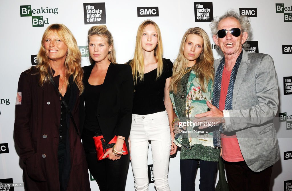 Model <a gi-track='captionPersonalityLinkClicked' href=/galleries/search?phrase=Patti+Hansen&family=editorial&specificpeople=206760 ng-click='$event.stopPropagation()'>Patti Hansen</a>, <a gi-track='captionPersonalityLinkClicked' href=/galleries/search?phrase=Alexandra+Richards&family=editorial&specificpeople=213455 ng-click='$event.stopPropagation()'>Alexandra Richards</a>, Ella Richards, <a gi-track='captionPersonalityLinkClicked' href=/galleries/search?phrase=Theodora+Richards&family=editorial&specificpeople=202641 ng-click='$event.stopPropagation()'>Theodora Richards</a>, and musician <a gi-track='captionPersonalityLinkClicked' href=/galleries/search?phrase=Keith+Richards+-+Musician&family=editorial&specificpeople=202882 ng-click='$event.stopPropagation()'>Keith Richards</a> attend The Film Society Of Lincoln Center And AMC Celebration Of 'Breaking Bad' Final Episodes at The Film Society of Lincoln Center, Walter Reade Theatre on July 31, 2013 in New York City.