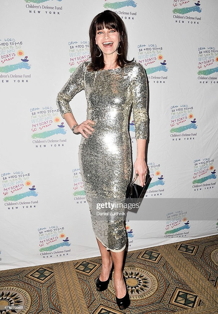 Model Paulina Porizkova attends the 40th Anniversary Children's Defense Fund 'Beat The Odds' Gala at The Pierre Hotel on March 12, 2014 in New York City.