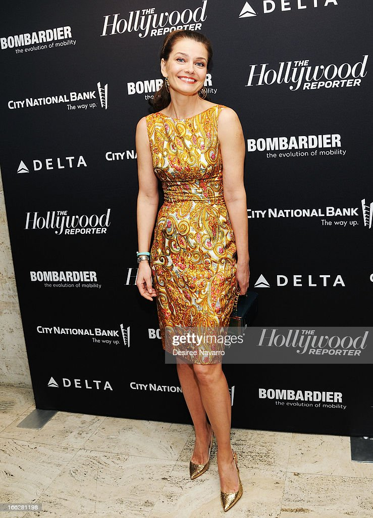 Model Paulina Porizkova attends The Hollywood Reporters 35 Most Powerful People In Media at Four Seasons Grill Room on April 10, 2013 in New York City.