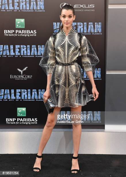 Model Pauline Hoarau arrives at the Los Angeles premiere of 'Valerian and the City of a Thousand Planets' at TCL Chinese Theatre on July 17 2017 in...