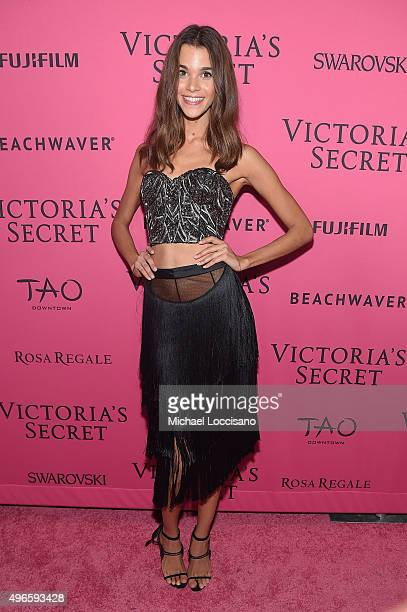 Model Pauline Hoarau attends the 2015 Victoria's Secret Fashion After Party at TAO Downtown on November 10 2015 in New York City