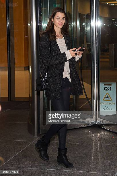 Model Pauline Hoarau is seen in Midtown on November 7 2015 in New York City