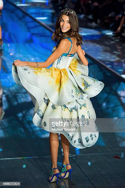 Model Pauline Hoarau walks the runway during the 2015 Victoria's Secret Fashion Show at the Lexington Armory on November 10 2015 in New York City