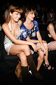 Model Petra Nemcova and actress Juliette Lewis attend Diesel Black Gold Spring 2009 at The Tent Bryant Park on September 8 2008 in New York City