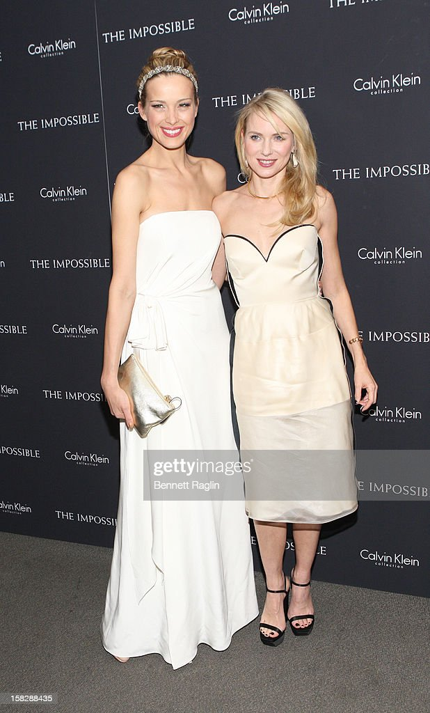 Model Petra Nemcova and actress <a gi-track='captionPersonalityLinkClicked' href=/galleries/search?phrase=Naomi+Watts&family=editorial&specificpeople=171723 ng-click='$event.stopPropagation()'>Naomi Watts</a> attends 'The Impossible' New York Special Screening at Museum of Art and Design on December 12, 2012 in New York City.