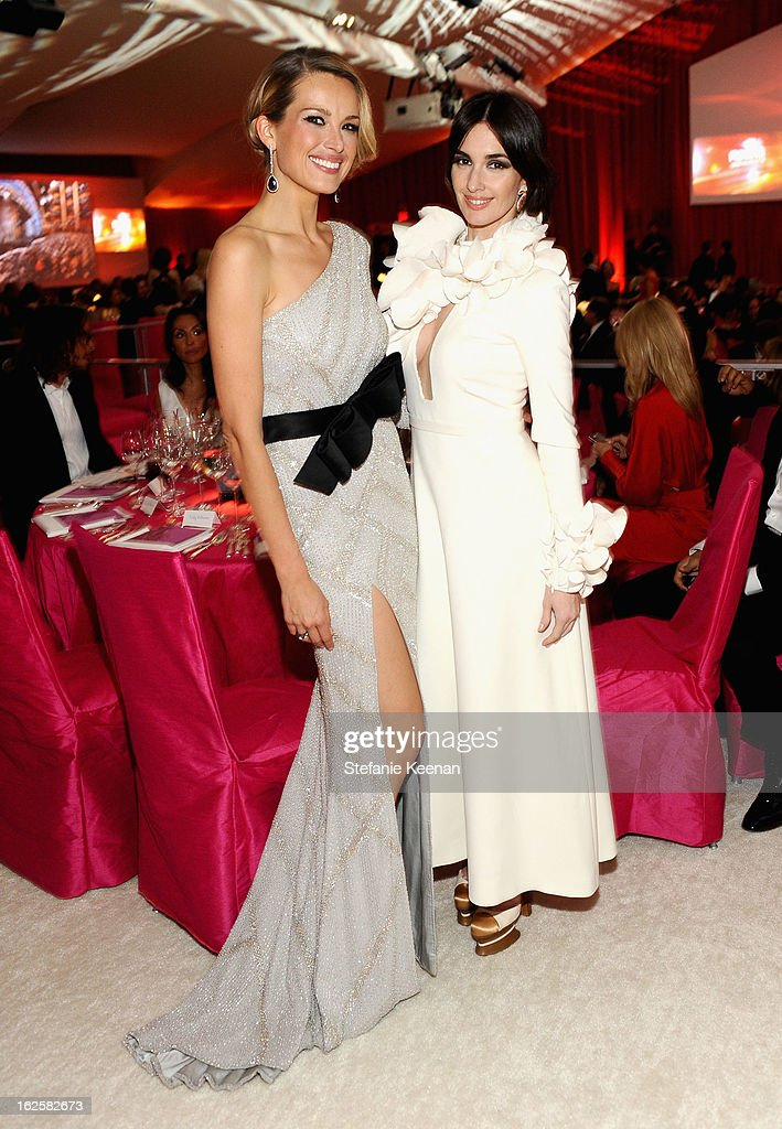 Model Petra Nemcova and actress Paz Vega attend Chopard at 21st Annual Elton John AIDS Foundation Academy Awards Viewing Party at West Hollywood Park on February 24, 2013 in West Hollywood, California.