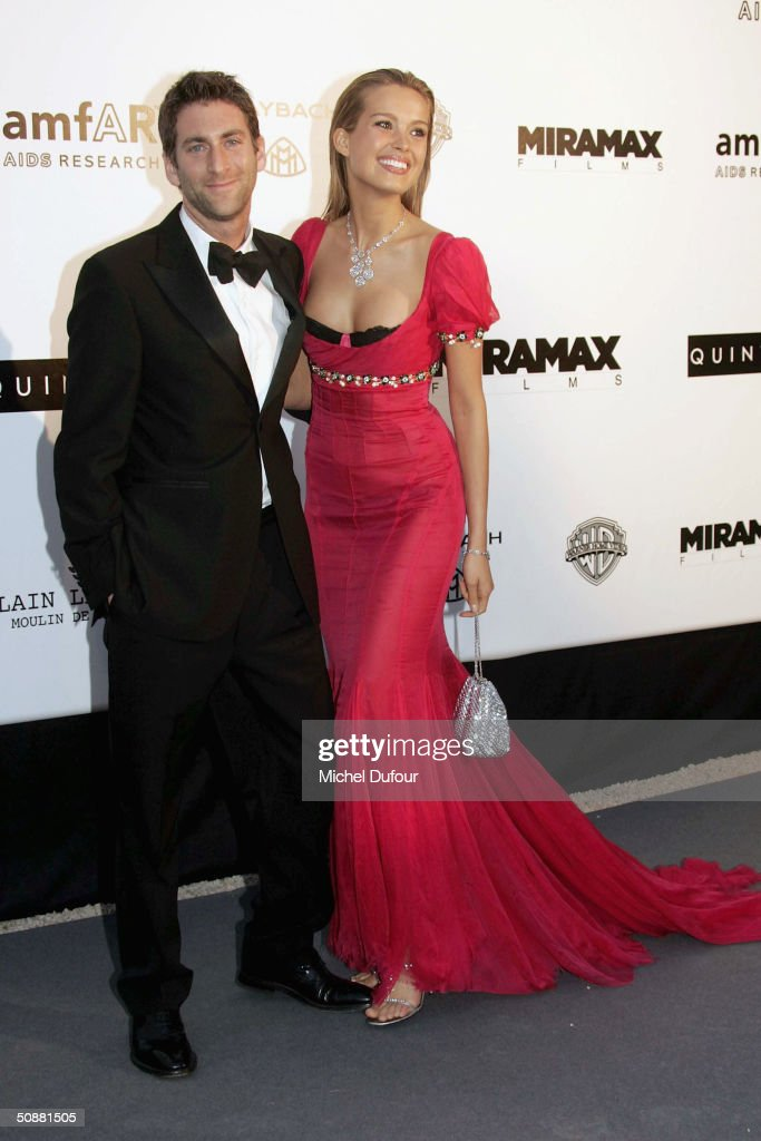 Model Petra Nemcova and her boyfriend Simon Atlee arrive at 'Cinema Against AIDS 2004', the 11th annual event in aid of amfAR (American Foundation for AIDS Research) at Le Moulin de Mougins at the 57th Cannes Film Festival on May 20, 2004 in Cannes, France.
