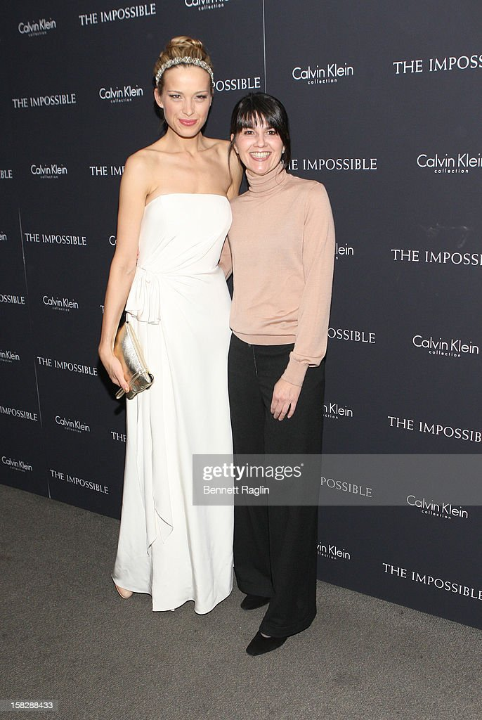 Model Petra Nemcova and Maria Belon attend 'The Impossible' New York Special Screening at Museum of Art and Design on December 12, 2012 in New York City.