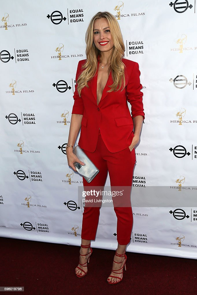 Model Petra Nemcova attends a screening of Heroica Films' 'Equal Means Equal' at Laemmle's Music Hall 3 on August 26 2016 in Beverly Hills California