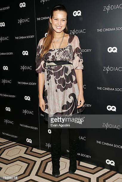 Model Petra Nemcova attends a special screening of 'Zodiac' hosted by The Cinema Society and GQ Magazine at the Tribeca Grand Hotel Screening Room...