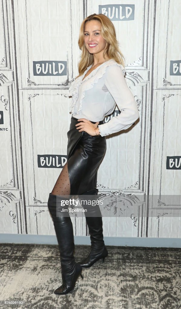Model Petra Nemcova attends Build to discuss Hands and Hearts - Smart Response at Build Studio on November 14, 2017 in New York City.