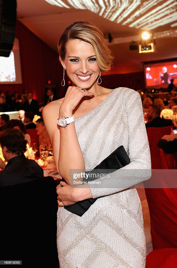 Model Petra Nemcova attends Chopard at 21st Annual Elton John AIDS Foundation Academy Awards Viewing Party at West Hollywood Park on February 24, 2013 in West Hollywood, California.