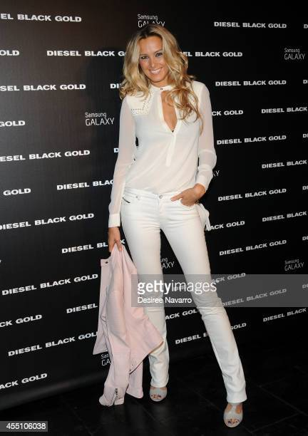 Model Petra Nemcova attends Diesel Black Gold during MercedesBenz Fashion Week Spring 2015 at Skylight at Moynihan Station on September 9 2014 in New...