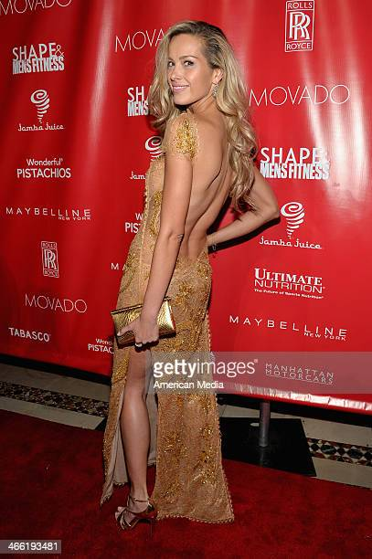 Model Petra Nemcova attends SHAPE Men's Fitness Kickoff Party at Cipriani 42nd Street on January 31 2014 in New York City