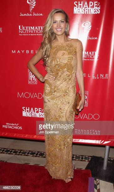 Model Petra Nemcova attends the 2014 Shape Men's Fitness Super Bowl Party at Cipriani 42nd Street on January 31 2014 in New York City