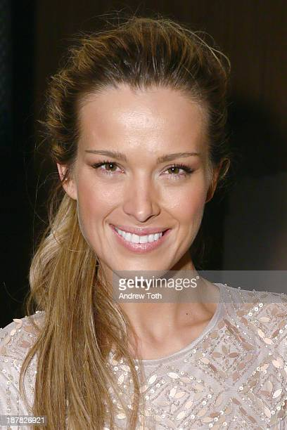 Model Petra Nemcova attends the after party for the Atelier Pronovias 2014 show hosted by Petra Nemcova at Pronovias Flagship Store on November 12...