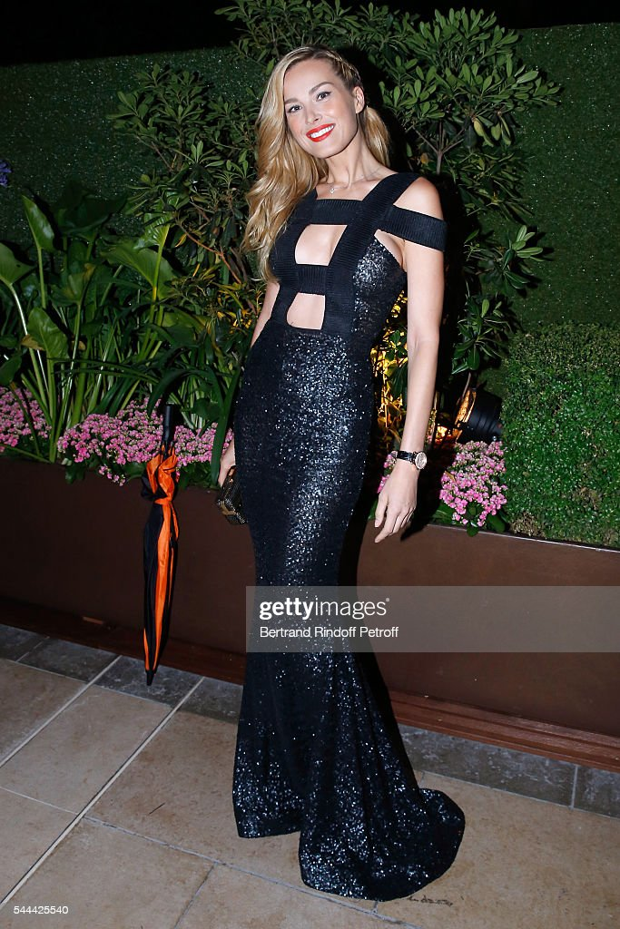 Model Petra Nemcova attends the Amfar Paris Dinner Stars gather for Amfar during the Haute Couture Week Held at The Peninsula Hotel on July 3 2016 in...