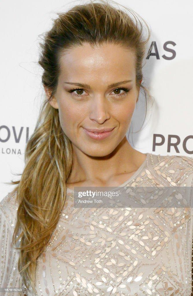 Model Petra Nemcova attends the Atelier Pronovias 2014 Show hosted by Petra Nemcova at St. James Church on November 12, 2013 in New York City.