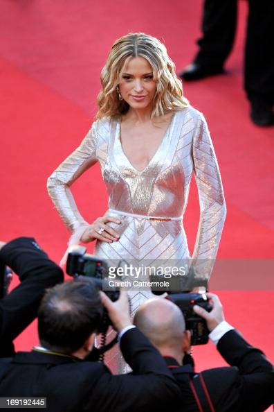 Model Petra Nemcova attends the 'Behind The Candelabra' premiere during The 66th Annual Cannes Film Festival at Theatre Lumiere on May 21 2013 in...