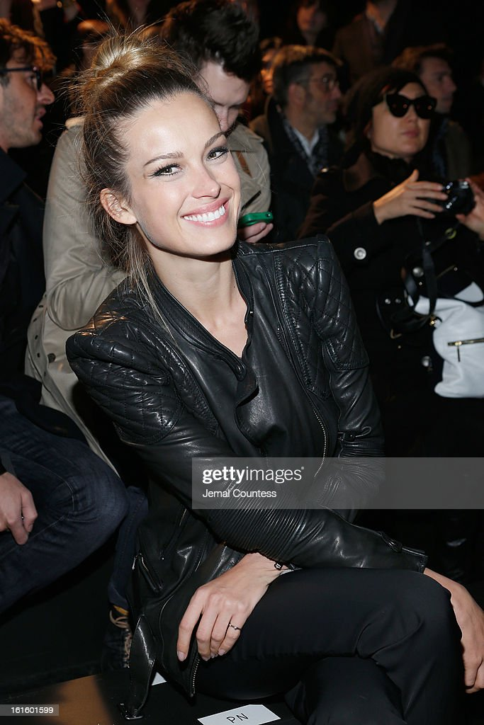 Model Petra Nemcova attends the Diesel Black Gold Fall 2013 fashion show during Mercedes-Benz Fashion Week at Pier 57 on February 12, 2013 in New York City.