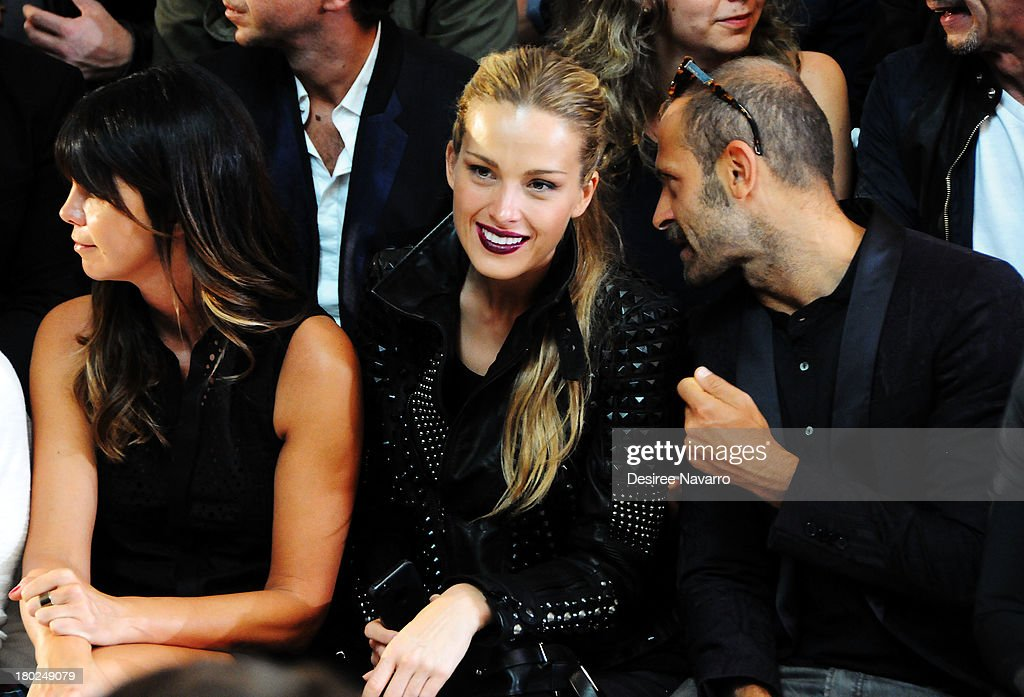 Model <a gi-track='captionPersonalityLinkClicked' href=/galleries/search?phrase=Petra+Nemcova&family=editorial&specificpeople=201716 ng-click='$event.stopPropagation()'>Petra Nemcova</a> attends the Diesel Black Gold show during Spring 2014 Mercedes-Benz Fashion Week at Vanderbilt Hall at Grand Central Terminal on September 10, 2013 in New York City.