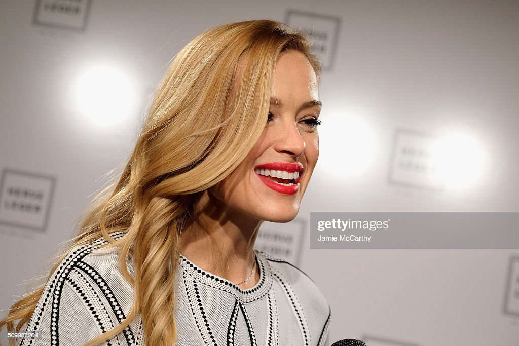 Model <a gi-track='captionPersonalityLinkClicked' href=/galleries/search?phrase=Petra+Nemcova&family=editorial&specificpeople=201716 ng-click='$event.stopPropagation()'>Petra Nemcova</a> attends the Herve Leger By Max Azria Fall 2016 fashion show during New York Fashion Week: The Shows at The Arc, Skylight at Moynihan Station on February 13, 2016 in New York City.