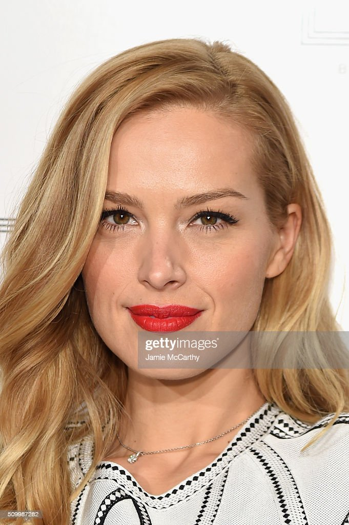Model <a gi-track='captionPersonalityLinkClicked' href=/galleries/search?phrase=Petra+Nemcova&family=editorial&specificpeople=201716 ng-click='$event.stopPropagation()'>Petra Nemcova</a> attends the Herve Leger By Max Azria Fall 2016 New York Fashion Week: The Shows at The Arc, Skylight at Moynihan Station on February 13, 2016 in New York City.