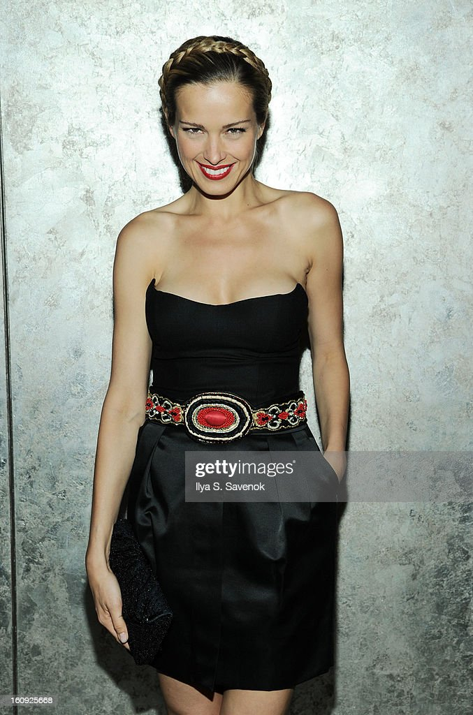 Model Petra Nemcova attends the La Perla fall 2013 presentation during Mercedes-Benz Fashion Week at The Gallery at The Dream Downtown Hotel on February 7, 2013 in New York City.