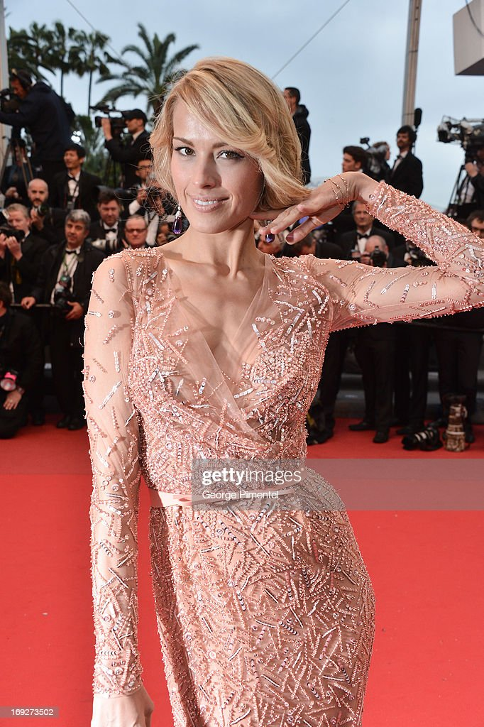 Model <a gi-track='captionPersonalityLinkClicked' href=/galleries/search?phrase=Petra+Nemcova&family=editorial&specificpeople=201716 ng-click='$event.stopPropagation()'>Petra Nemcova</a> attends the Premiere of 'All Is Lost' at The 66th Annual Cannes Film Festival on May 22, 2013 in Cannes, France.