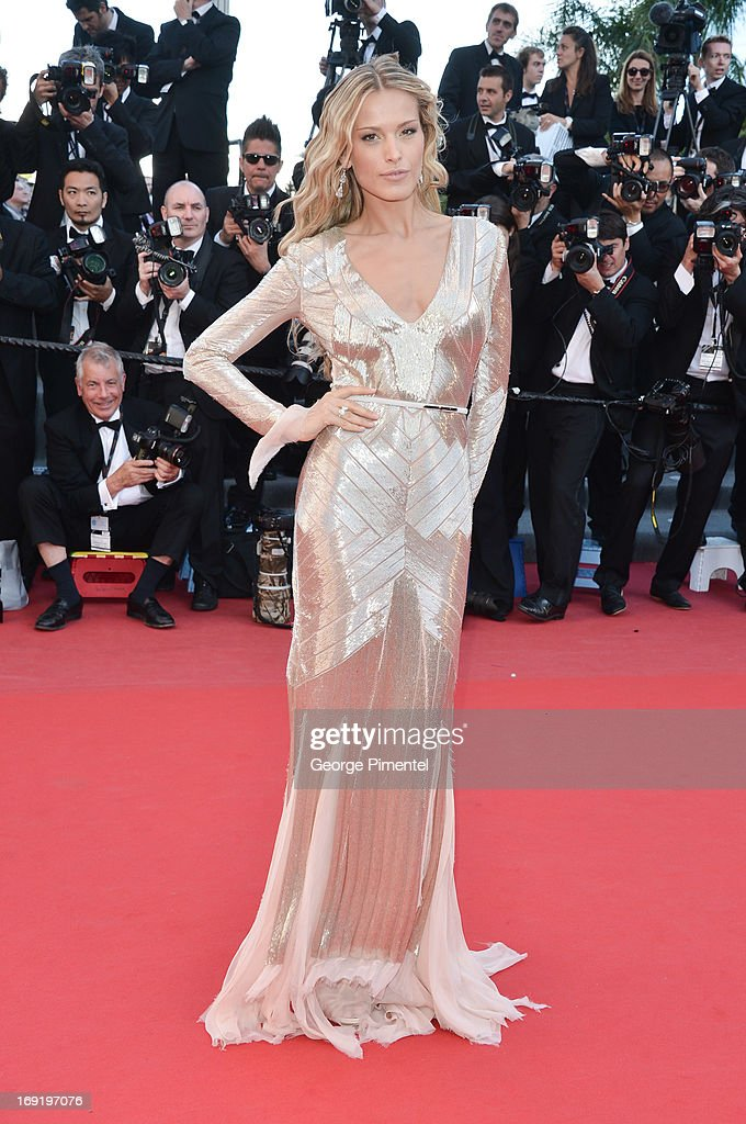 Model Petra Nemcova attends the Premiere of 'Behind The Candelabra' at The 66th Annual Cannes Film Festival>> on May 21, 2013 in Cannes, France.