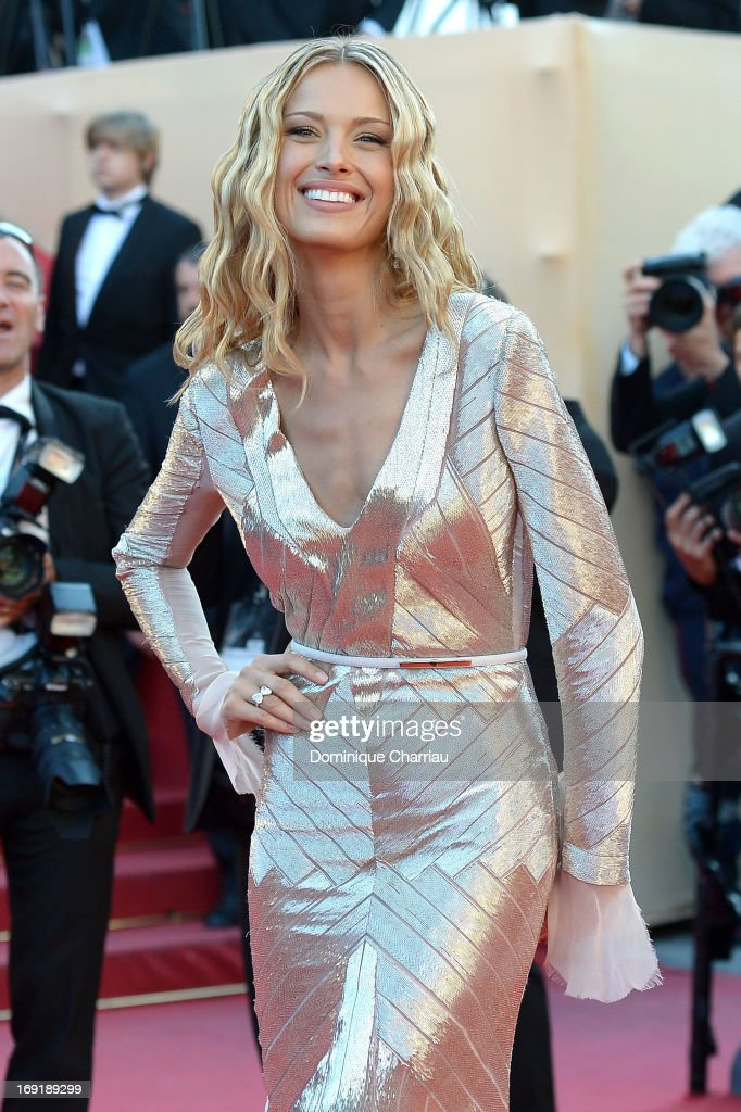 Model Petra Nemcova attends the Premiere of 'Behind The Candelabra' during the 66th Annual Cannes Film Festival at the Palais des Festivals on May 21, 2013 in Cannes, France.