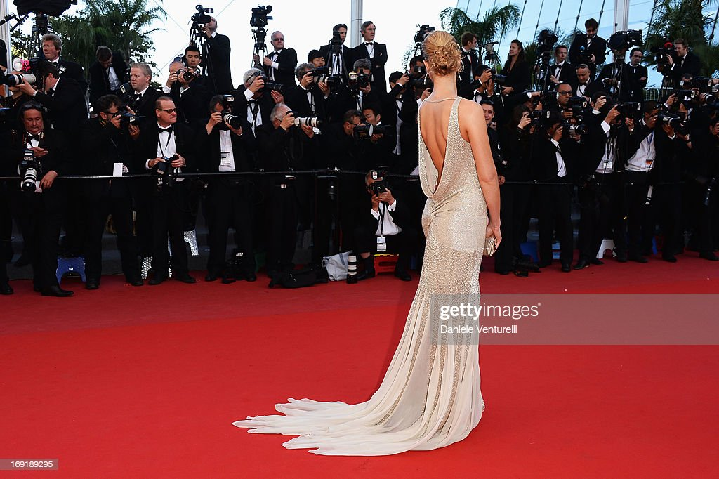 Model Petra Nemcova attends the Premiere of 'Cleopatra' during the 66th Annual Cannes Film Festival at the Palais des Festivals on May 21 2013 in...