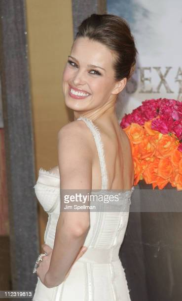 Model Petra Nemcova attends the premiere of 'Sex and the City 2' at Radio City Music Hall on May 24 2010 in New York City