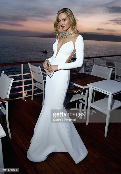 Model Petra Nemcova attends Vanity Fair and HBO Dinner Celebrating the Cannes Film Festival at Hotel du CapEdenRoc on May 14 2016 in Cap d'Antibes...