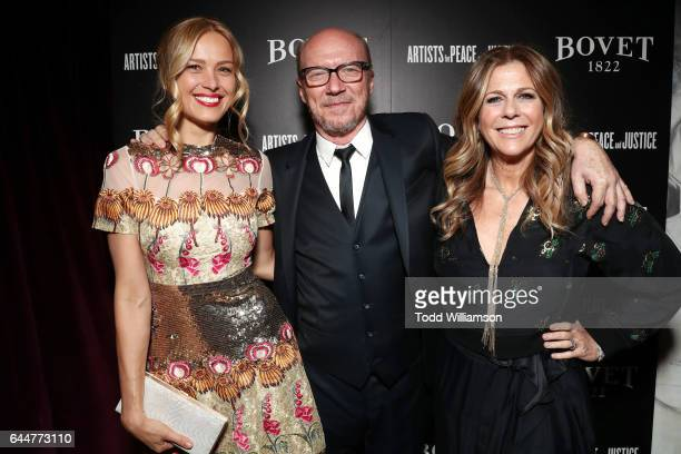 Model Petra Nemcova director Paul Haggis and actress Rita Wilson attend BOVET 1822 Artists for Peace and Justice Present 'Songs From the Cinema'...