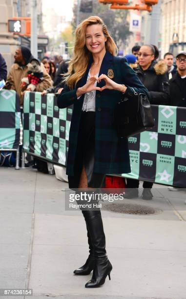 Model Petra Nemcova is seen outside AOL Live on November 14 2017 in New York City