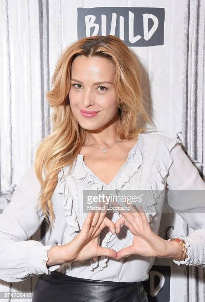 Model Petra Nemcova visits Build Studio to discuss the initiative she cofounded Hands And Hearts Smart Response on November 14 2017 in New York City