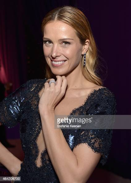 Model Petra Nemcova wearing Chopard attends the 23rd Annual Elton John AIDS Foundation Academy Awards viewing party with Chopard on February 22 2015...