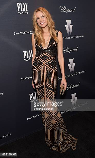 Model Petra Nemcova wearing Chopard attends The Weinstein Company's Academy Awards Nominees Dinner in partnership with Chopard DeLeon Tequila FIJI...
