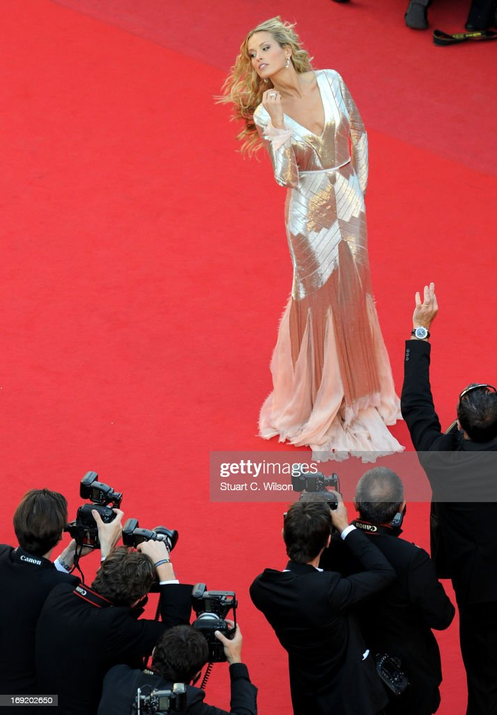 Model Petra Nemkova attends the 'Behind The Candelabra' premiere during The 66th Annual Cannes Film Festival at Theatre Lumiere on May 21, 2013 in Cannes, France.