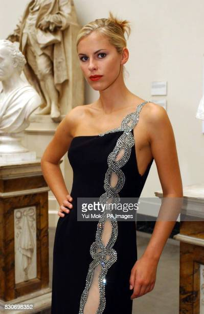 Model Petrina Khashoggi daughter of former Tory Minister Jonathan Aitken during a Catherine Walker fashion show as part of the 'Fashion in Motion'...