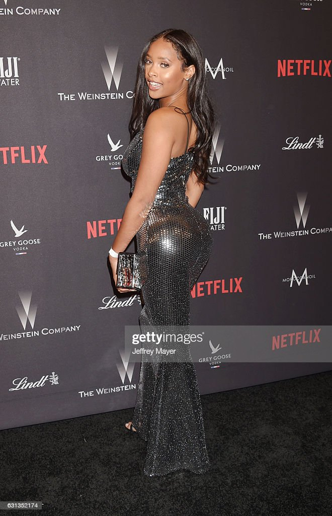 Model Phoenix Skye attends The Weinstein Company and Netflix Golden Globe Party, presented with FIJI Water, Grey Goose Vodka, Lindt Chocolate, and Moroccan Oil at The Beverly Hilton Hotel on January 8, 2017 in Los Angeles, California
