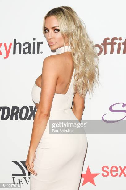 Model / Playboy Cybergirl Lindsey Pelas attends OK Magazine's annual preOscar event at Nightingale Plaza on February 22 2017 in Los Angeles California